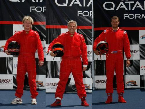 f1瑞典队三位赛手,左:安德森-约纳斯,中:菲利普-托瑞,右:斯拉克特瑞斯