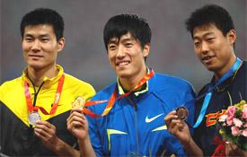 中国赛110栏刘翔夺个人鸟巢首冠第一枪再度抢跑