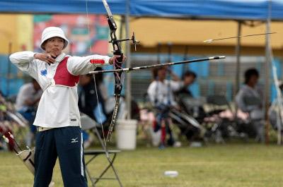资料图片-中华台北女子射箭队队员吴蕙如