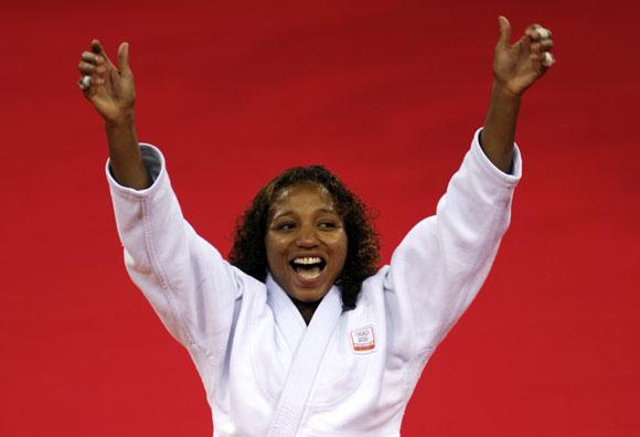 资料图片-奥运会柔道57公斤级亚军格拉文斯泰恩