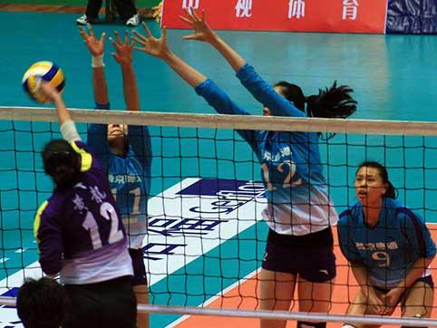 08-09赛季全国女排联赛A组第13轮:四川2比3负北京