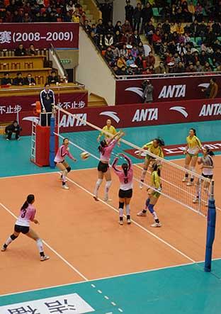 08-09赛季全国女排联赛A组第15轮:江苏0比3负天津