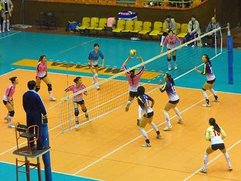 08-09赛季全国女排联赛A组第18轮:河北0比3负四川