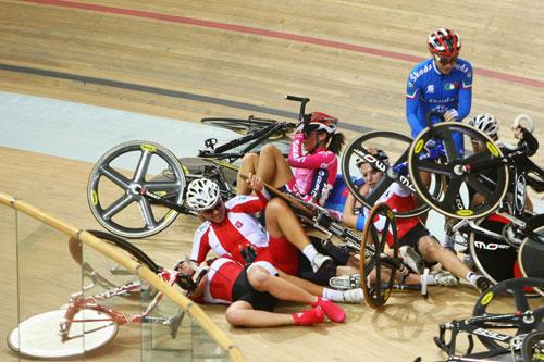 场地自行车世界杯英国队证明实力 中国队冲击