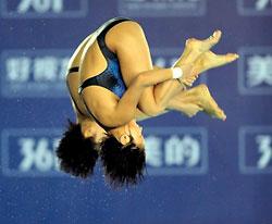 跳水世界杯女子双人十米台陈若琳/汪皓轻松封后
