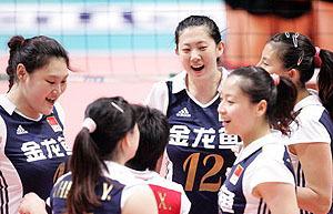 王一梅发球建功中国女排3比0德国香港站赢两连胜