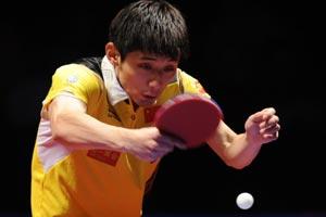 中乒赛-张继科7局力克马琳首夺巡回赛男单冠军
