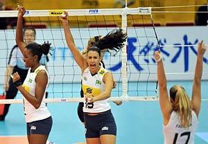 女排世锦赛复赛F组:巴西提前晋级四强美意均完胜