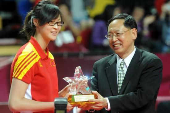 惠若琪获最受球迷喜爱奖