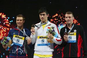 世锦赛-孙杨卫冕800米自由泳金牌中国队历史百金