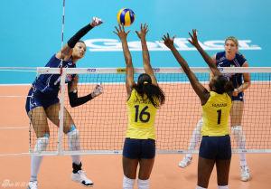 大奖赛巴西女排3-0横扫意大利总决赛三连胜领跑