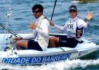 图文-青岛国际帆船赛22日赛况 男子470级第三名