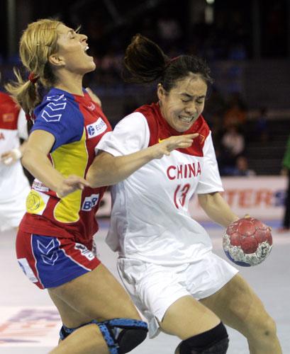 图文-女手世锦赛中国29-31罗马尼亚吴亚楠成功护球