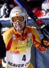 图文-滑雪世界杯超级大回转赛况波尔克可爱鬼脸