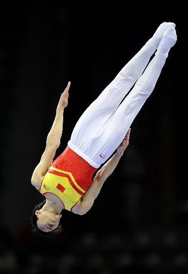 图文-好运北京蹦床国际邀请赛叶帅获得男子冠军
