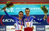 图文-自行车世界杯赛法国队获男子麦迪逊赛冠军