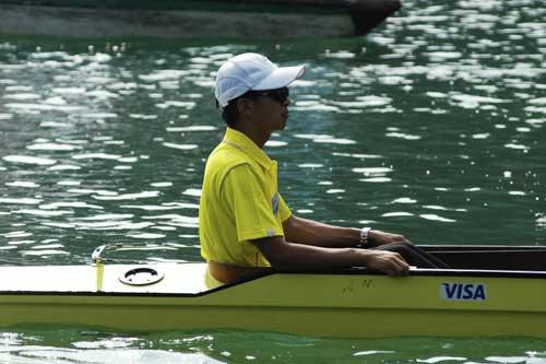 图文-奥运舵手总决赛第三集张潘嗣沉静异常