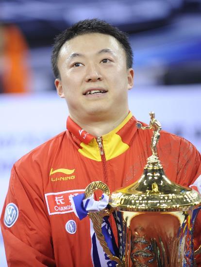 图文-国际乒联总决赛男单颁奖马琳再登最高领奖台