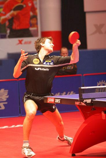 图文-乒乓球总冠军赛1/4决赛战况波尔不甘示弱