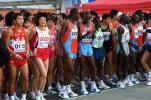 图文-2008厦门国际马拉松赛况孙英杰笑容满面