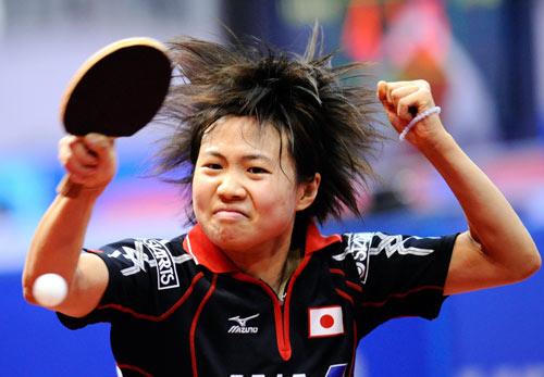 图文-[世乒赛女团]日本3-2韩国平野早矢香扳平比分