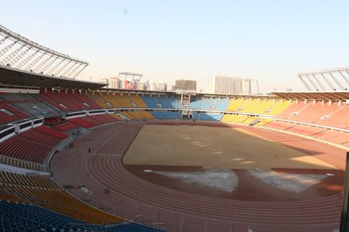 图文-北京工人体育场改建工程完工 红黄蓝亮眼三色
