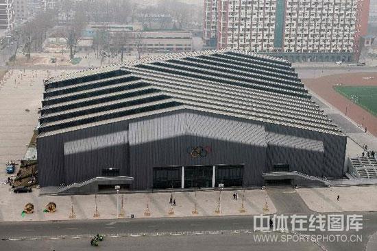 图文-中国农业大学体育馆 场馆外全景鸟瞰图