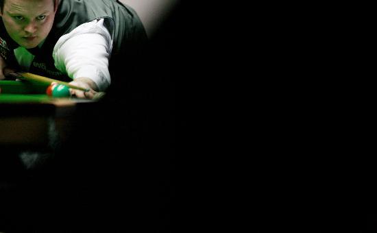 图文-斯诺克中国公开赛决赛赛况黑暗中光明的一角
