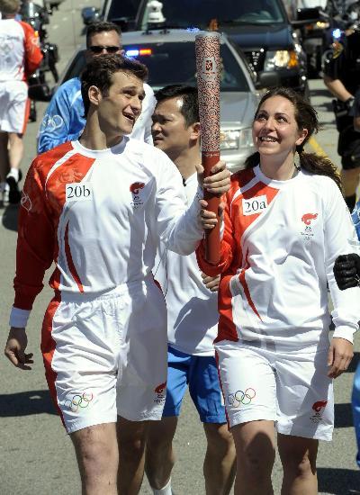 图文-北京奥运会火炬在旧金山传递 仔细瞧瞧