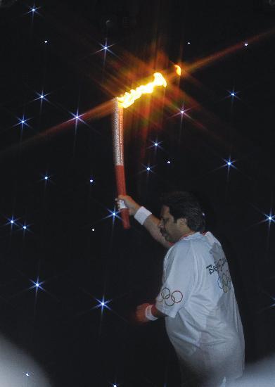 图文-北京奥运圣火在伊斯兰堡传递 美丽的火焰
