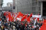 图文-全球华人护圣火柏林游行 柏林街头万人大游行