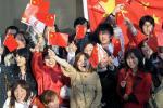 图文-北京奥运会火炬在长野传递 热情洋溢中国红
