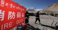 图文-探访珠峰5200米大本营 大本营的消防演练