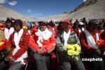 图文-珠峰大本营举行庆祝活动 珠峰火炬传递勇士