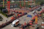 图文-北京奥运圣火在龙岩传递 犹如过节一样喜庆