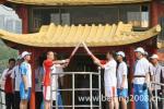 图文-北京奥运圣火在嘉兴传递 南湖游船上传递圣火