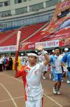 图文-奥运圣火在湖南长沙传递 传进贺龙体育中心