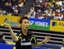 图文-新加坡羽球赛半决赛赛况李宗伟小心应对盖德