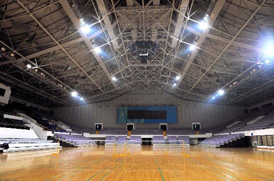 图文-改扩建后的奥体中心体育馆 美丽赛场静待来宾