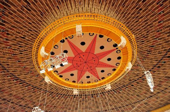 图文-北京工人体育馆换新颜 顶棚装饰一新显华贵