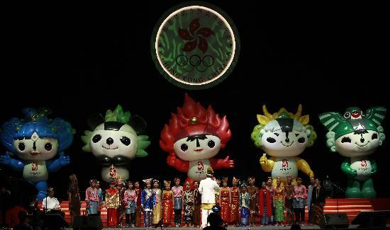 图文-世界同声颂奥运 印尼青少年合唱团亮相