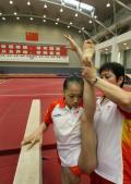 图文-中国选手备战奥运 国家体操女队队员杨伊琳