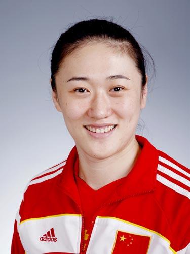 图文-北京奥运会中国代表团成立 女排队员刘亚男