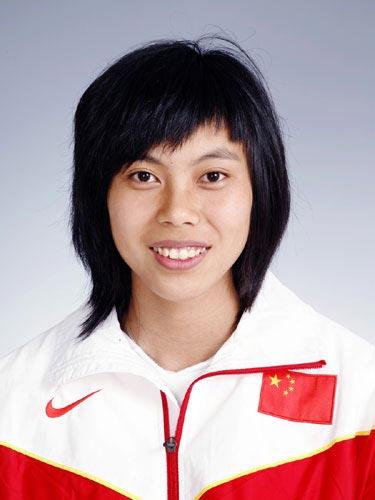 图文-北京奥运会中国代表团成立 田径队队员郑幸娟