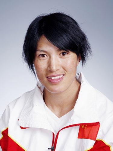 图文-北京奥运会中国代表团成立田径队队员董晓琴