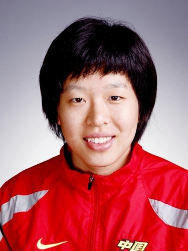 图文-北京奥运会中国代表团成立 手球队队员闫美珠