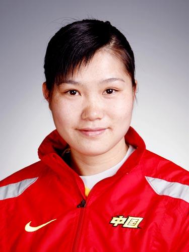 图文-北京奥运会中国代表团成立 手球队队员韦秋香