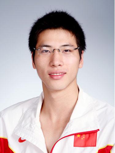 图文-北京奥运会中国代表团成立 游泳队队员吕志武