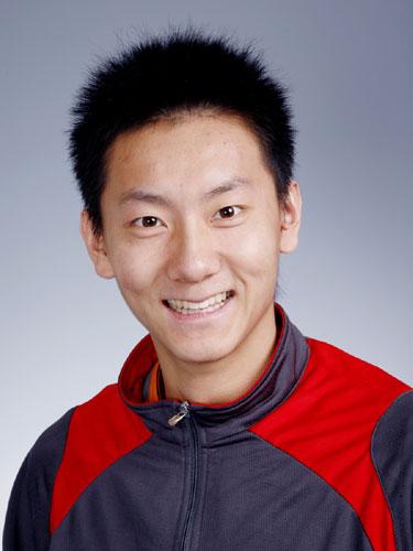 图文-北京奥运会中国代表团成立 羽毛球男队员陈金
