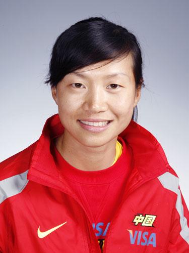 图文-北京奥运会中国代表团成立 赛艇队队员徐东香